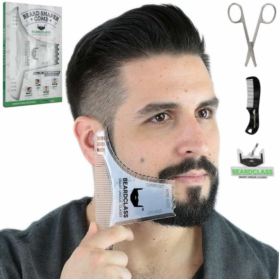 beardclass comb multi liner beard shaper template comb kit transparent