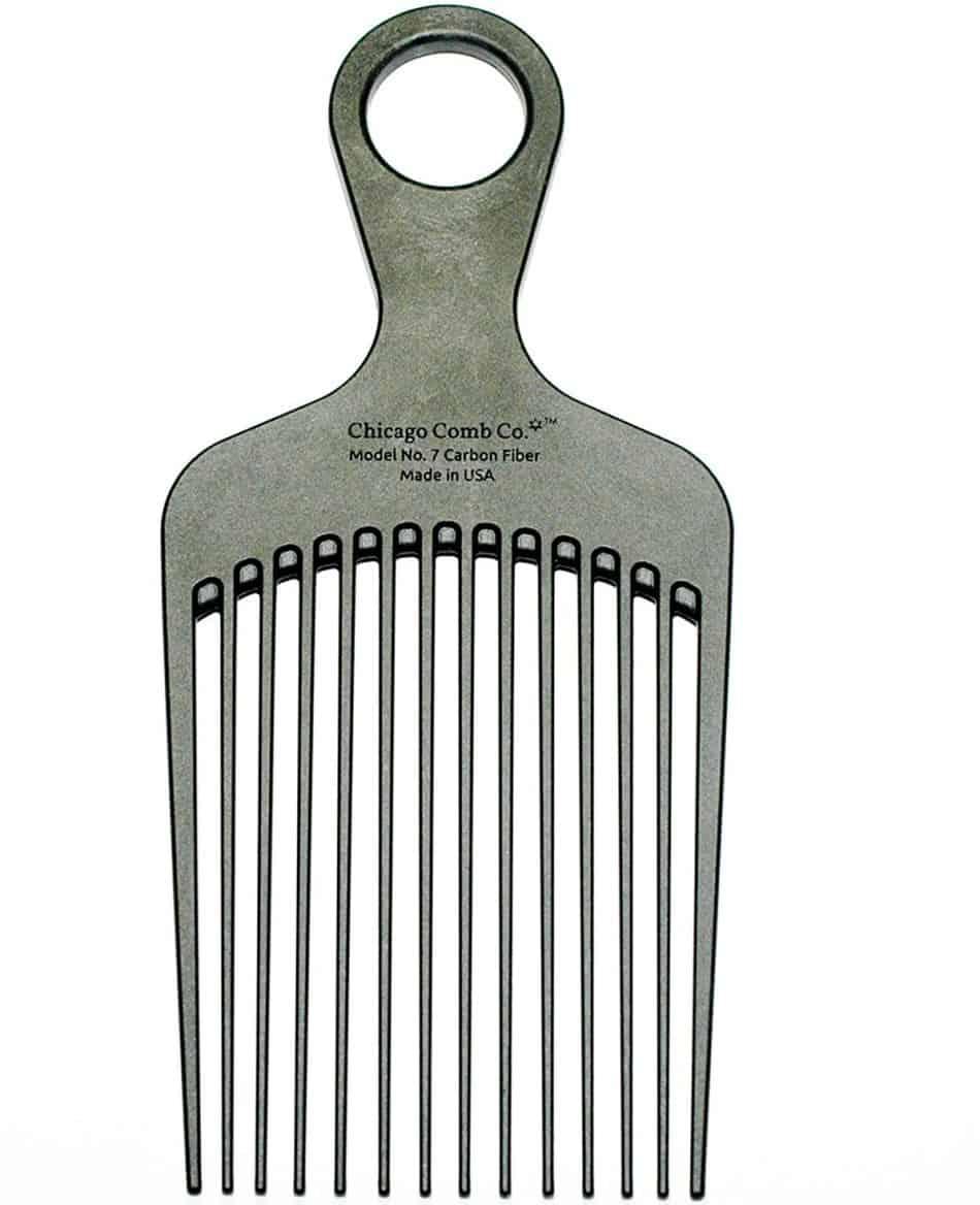 chicago comb model 7 carbon fiber pick comb