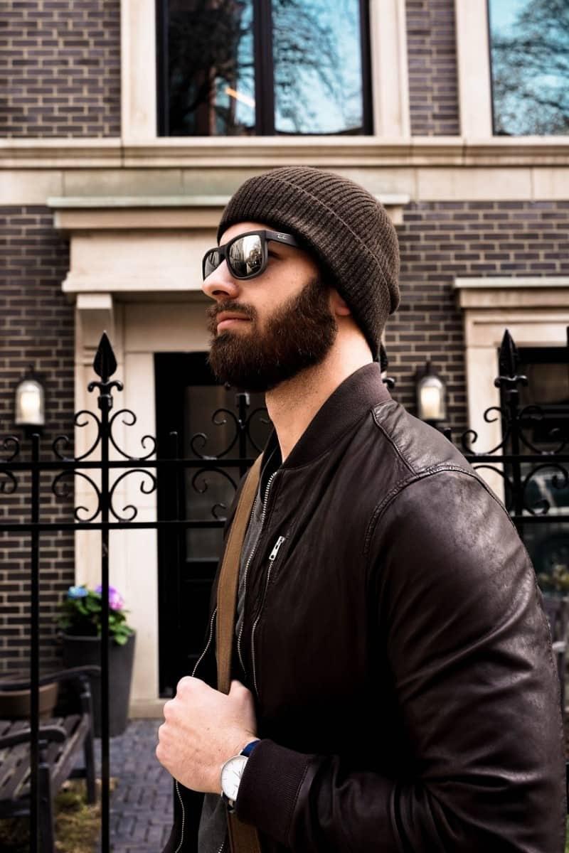 beard man wearing sunglasses