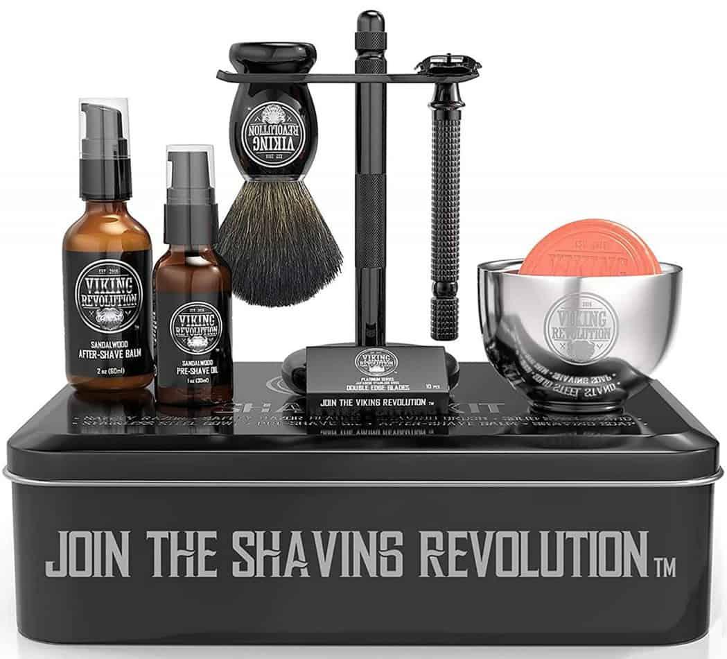 viking revolution luxury safety razor shaving kit