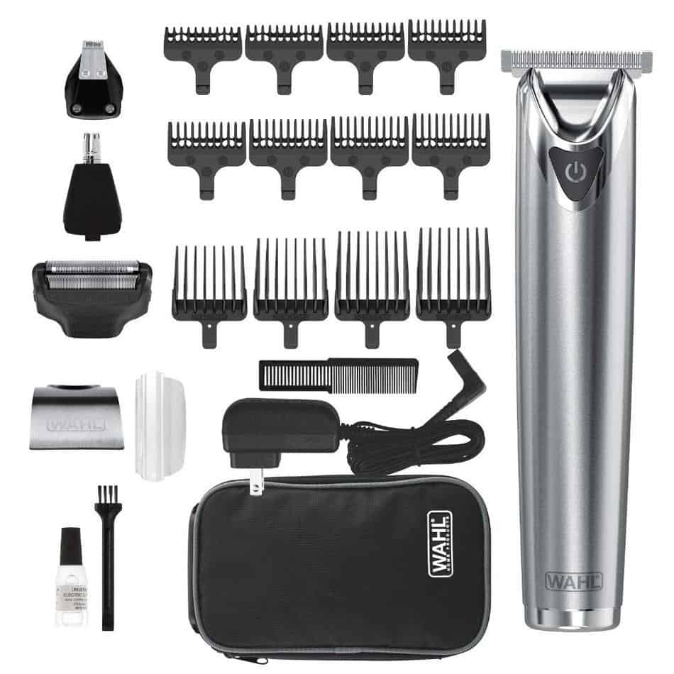 wahl stainless steel lithium ion 2.0+ slate beard trimmer for men